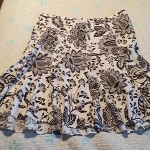 American Living Skirts - Brown floral skirt American Living size 14
